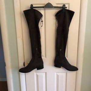 Sam Edelman knee high suede boots.